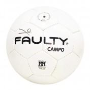 Bola Faulty Futebol de Campo Branca e Preta