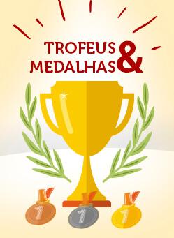 Submenu Troféus e Medalhas